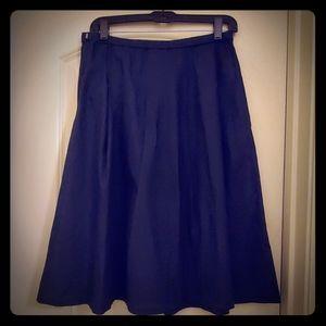 NWT Uniqlo navy linen cotton skirt medium